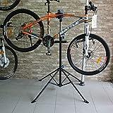 Seasofbeauty Pied d'Atelier pour Vélo Support Stand Maintenance Réparation Workstand Mécanicien pour Vélo VTT - Pivotant jusqu'à 360°