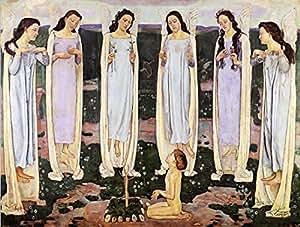 OdsanArt Impression sur toile L'élu par Ferdinand Hodler Postimpressionnisme 30,5 x 23 cm