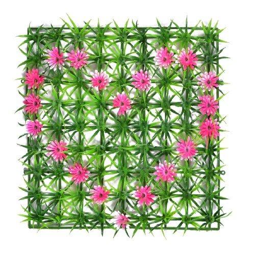 Turf-green Grass (Kunstbloem Heart Green Plastic Grass Lawn Turf Aquarium Decor 9.4