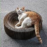 Lucy Deer Kat Klappbar Kratzbrett Für Katzen Mit Katzenminze & Ball Kratzbaum Kratzmöbel Katze Spielzeug Aus Wellpappe