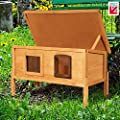 Extra Large External Self Heating Outdoor Cat House Kennel with One Way Privacy Window