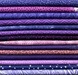 HQ Sewing Parts 10 x FQ 's sortiert lila lila Quilting