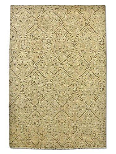 Pak Persian Rugs Handgeknüpfter Gabbeh Teppich, Dark Champagner/Sand, Wolle, Medium, 182 X 269 cm -
