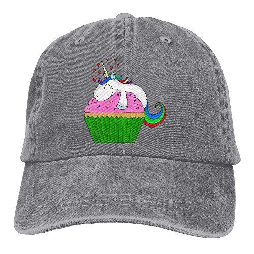 UUOnly Einhorn Cupcake Snapback Baumwollhut (Cupcake Mützen Für Erwachsene)
