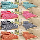 FINCH Microfiber Designer Combo BEDSHEET Set Of 4 Double & 4 Single BEDSHEETS With 12 Pillow Covers