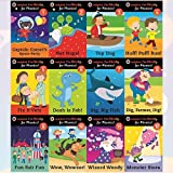 Ladybird I'm Ready for Phonics Collection 12 Books Bundle (Captain Comet's Space Party Ladybird I'm Ready for Phonics: Level 1, Nat Naps! Ladybird I'm Ready for Phonics: Level 2, Top Dog: Ladybird I'm Ready for Phonics: Level 3, Huff! Puff! Run! Ladybird I'm Ready for Phonics: Level 4, Fix It Vets Ladybird: I'm Ready for Phonics: Level 5, Dash is Fab!, Big, Big Fish, Dig, Farmer, Dig!, Fun Fair Fun, Wow, Wowzer!, Wizard Woody, Monster Stars)