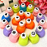 #7: Kraftmasters Mini 12 pcs Scrapbook Punches Handmade Cutter Card Craft Calico Printing DIY Flower Paper Craft Punch Hole Puncher Shape