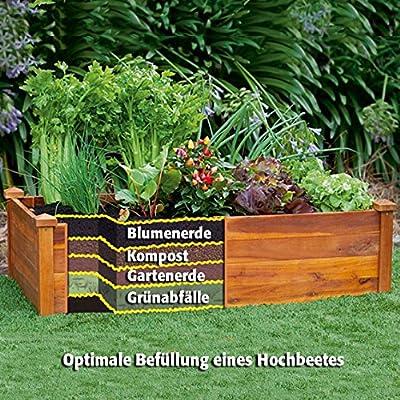 Gärtner Pötschke Hochbeet Klassik, rechteckig, stapelbar, Akazie von Gärtner Pötschke bei Du und dein Garten