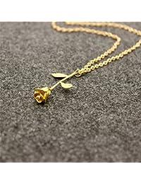 Repino Damen-Halskette mit Rosenanhänger, gold-, silber- und rotgoldfarben  gold 6036d64fb5