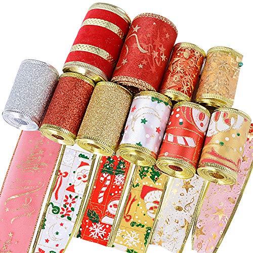BUONDAC 20metros Cintas Navidad Decoración DIY Manualidades