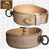 Woza Premium SCHWEIßHALSUNG 4,7/52 Vollleder Rindleder Handmade Collar