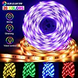 Striscia LED RGB Musicale 10M, Autoadesiva LED Strip RGB 24w Striscia Luminosa Impermeabile/Flessibile/Accorciabile/Divisibile/Collegabile Led Illuminazione Strisce Decorative per Interni/Esterni