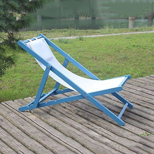 FEIFEI Fauteuils inclinables Chaises pliantes de chaise de plage Chaises longues de balcon Pliant (Couleur : C)