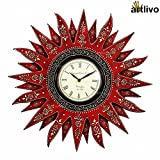 Artlivo Bold Red Wooden Embossed Sunny W...