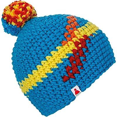 StepUp Beanie Sionyx Mütze gehäkelt MIT Bommel in Handarbeit für Sport und Freizeit Damen Herren Unisex Bommelmütze