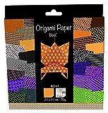 Avenue Mandarine OR504O Origami Papier Set (20 x 20 cm, 60 Blatt, 70 g) schwarz / halloween