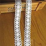"""15 metres Blanc ivoire Crème coton Crochet Bordure Bordure en dentelle ruban 2 cm de large ruban de dentelle vintage garnitures pour couture Crafts Bandeau Cadeau Scrapbooking DIY, blanc, 20mm, 0.8"""""""