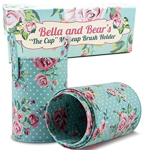 Sostenedor De Cepillos De Maquillaje De Bella and Bear.Nuestro Sostenedor De Cepillos Es El Acompañante Perfecto Para Tus Cepillos Kitten e Individuales.