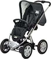 iCoo Peak Air, Stroller with seat-unit and 3in1 pram, and MP3 System, 0M+ to 15 kg - Night