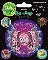 Cartoon Network Rick and Morty-Psychedelic Visions - Vinilo adhesivo, multicolor, 10 x 12,5 cm