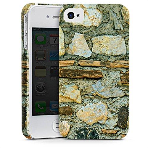Apple iPhone X Silikon Hülle Case Schutzhülle Mittelalterliches Gemäuer Steinwand Steine Look Premium Case glänzend