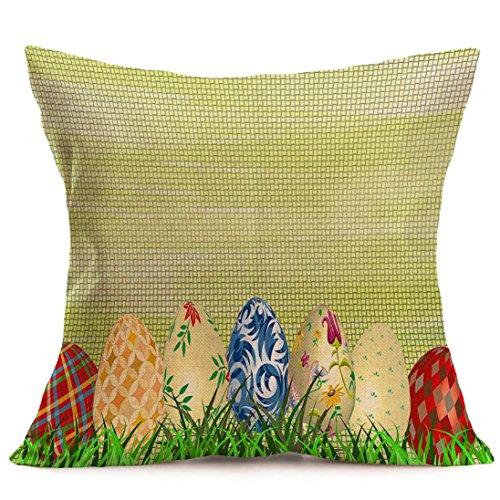 Jamicy Pasqua Festival divano-letto casa decorativo Ultra-velluto 45cm * 45 centimetri federa I
