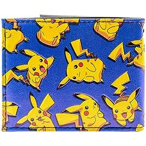 61FPrebodLL. SS300  - Cartera de Pokemon Pikachu Ratón Feliz eléctrico Azul