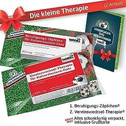 ZÄPFCHEN® Geschenk-Set: 1 - Die Kleine Therapie für FCK-Fans | Für Fans mit FC Kaiserslautern Tasse, FCK Kaffee-Becher, Handtuch & FCK Fanartikel