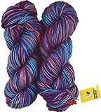 #5: Vardhman Flaura 100% Acrylic Wool Multi Voilet 200 gm