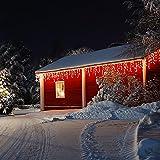 Blumfeldt Dreamhouse Snow Weihnachtsdekoration Lichterkette (Snow-Motion-Effekt, 16 m, 320 LEDs warmweiß, spritzwassergeschützt, Innen-/Außendekoration) weiß