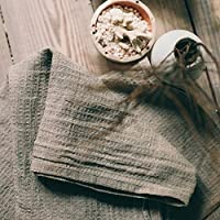 Handgemachte Gewaschene Natürliche Geschirrtücher Handtücher - 2 Stück 100% Leinen Flachs 35x75 cm Leinentuch Waffel Weben Küchenhandtücher Schnelltrocknend Gästetuch von Thingstore
