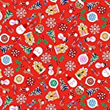 Makower M, Weihnachtsmann-Motiv, Rot