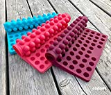 Collory Silikon Backmatte (2Stück) | 2cm Halbkugel Backform für Hundekekse Hundeleckerlies | Hitzebeständig 240°C | 40x28.5x1.5cm | Lebensmittelecht (BPA-frei) | Antihaftbeschichtet
