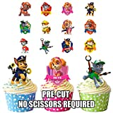 Paw Patrol Party Pack, Kuchen Dekorationen–36Essbar Stand-up Cupcake Topper
