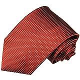 Paul Malone Rote XL Krawatte 100% Seidenkrawatte (Überlänge 165cm)