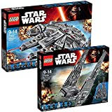 Lego Star Wars 2er Set 75104 75105 Kylo Ren's Command Shuttle + Millenium Falcon