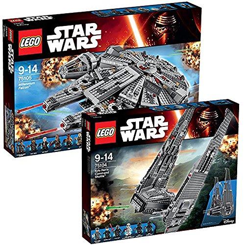 Lego Star Wars 2er Set 75104 75105 Kylo Ren's Command Shuttle + Millenium Falcon