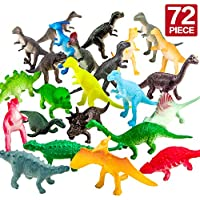 conjunto de 72 piezas de Juguete de Mini Dinosaurio, Material de Seguridad.Juego de Juguetes de Dinosaurio del Mundo Zoológico para Chicos, Adornos para Pasteles, Favoritos para Fiesta