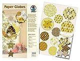 Ursus 23070099 - Designkreise Paper Globes Golden Charm