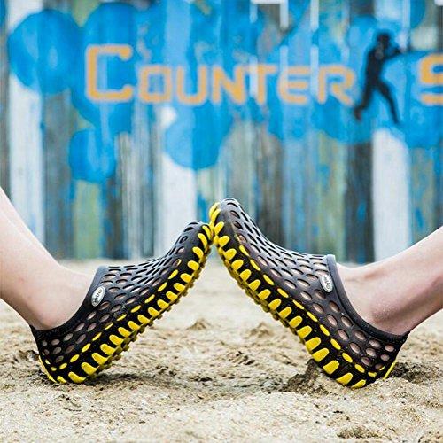 Scarpe morbide sandali di moda per uomo e donna antiscivolo e traspirante black yellow 2188