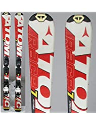 Ski occasion junior Atomic race 7/8 Interski blanc rouge + fixations