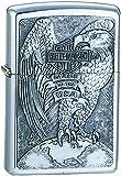 Zippo Harley Davidson Made In The Usa Eagle & Globe Emblem Lighter - Brushed Chrome