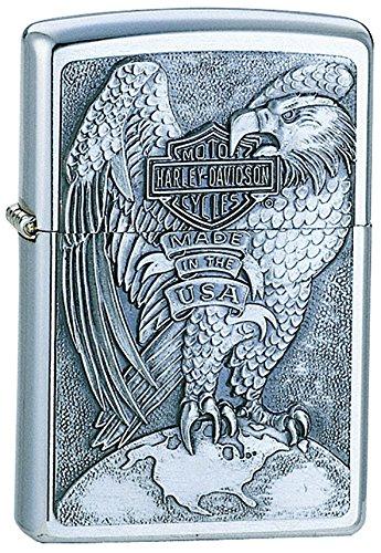 zippo-harley-davidson-made-in-the-usa-eagle-globe-emblem-lighter-brushed-chrome