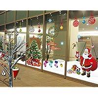 ufengke® Feliz Navidad Santa Claus árbol de Navidad medias de Navidad regalos de Navidad Etiquetas de la pared, salón dormitorio escaparate extraíble pegatinas de pared murales