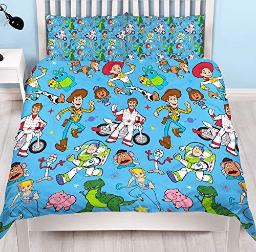 Disney Toy Story 4 'Rescue' Bettwäsche-Set für Einzelbett/Doppelbett, wendbar, Mehrfarbig, Bettbezug für Doppelbett