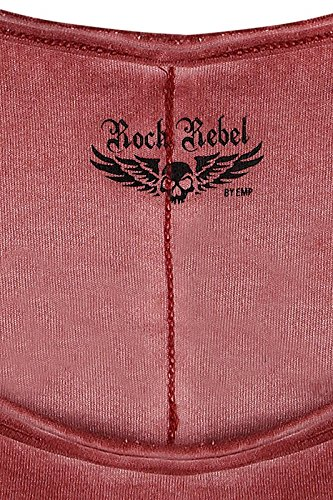 Rock Rebel by EMP Faded Top Femme rouge Rouge