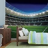 Fußball Stadion Sport- Forwall - Fototapete - Tapete - Fotomural - Mural Wandbild - (324WM) - XXL - 312cm x 219cm - VLIES (EasyInstall) - 3 Pieces