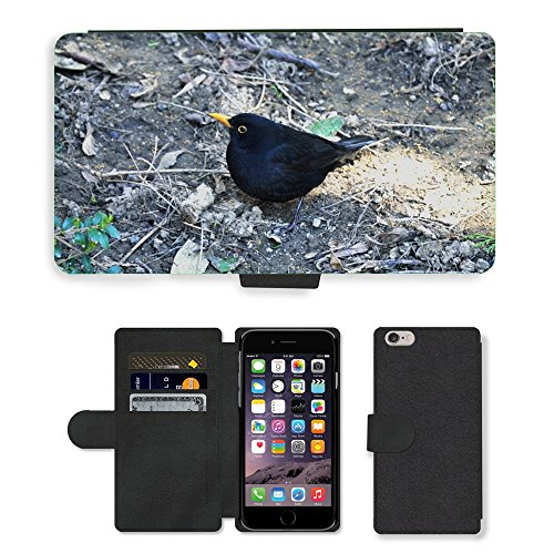 Just Mobile pour Hot Style Téléphone portable étui portefeuille en cuir PU avec fente pour carte//m00139740printemps Grive Oiseau//Apple iPhone 6Plus 14cm