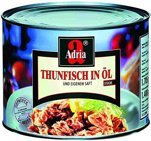 Adria Thunfisch-Stücke in Pflanzenöl 1705 g, 1er Pack (1 x 1.71 kg)