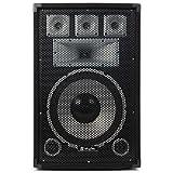 PA Komplettset Warm Up Party PA Lautsprecher Verstärker Set (2x 30cm (12 Zoll) Passiv-PA-Box, je 200W RMS, 700W PA Endstufe, inkl. Lautsprecherkabel) schwarz